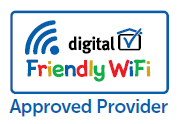 WebTitan WiFi accredited as a  friendly WiFi approved provider.